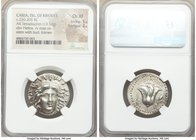 CARIAN ISLANDS. Rhodes. Ca. 230-205 BC. AR tetradrachm (25mm, 13.56 gm, 1h). NGC Choice XF 5/5 - 3/5. Eucrates, magistrate. Radiate head of Helios fac...