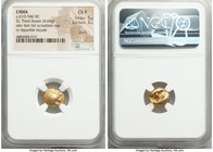 LYDIAN KINGDOM. Alyattes or Walwet (ca. 610-546 BC). EL third-stater or trite (14mm, 4.68 gm). NGC Choice Fine 5/5 - 3/5, scuffs. Uninscribed issue, L...