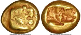LYDIAN KINGDOM. Walwet (before ca. 560 BC). EL sixth-stater or hecte (10mm, 2.35 gm). NGC VF 4/5 - 4/5. Lydo-Milesian standard. Sardes(?) mint. Confro...