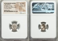 ACHAEMENID PERSIA. Darius I-Xerxes I (ca. 505-480 BC). AR siglos (15mm, 5.32 gm). NGC Choice XF S 5/5 - 5/5. Sardes mint. Persian king or hero, wearin...