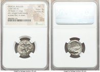 CILICIA. Mallus. Ca. 440-385 BC. AR stater (20mm, 11.22 gm, 12h). NGC XF 4/5 - 4/5. Bearded male, winged, in kneeling/running stance left, holding sol...
