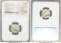CILICIA. Tarsus. Ca. late 5th century BC. AR stater (20mm, 10.52 gm, 7h). NGC Choice XF 4/5 - 4/5. Satrap on horseback riding left, reins in left hand...