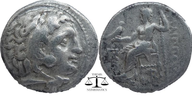 KINGS of MACEDON. Alexander III 'the Great'. 336-323 BC. AR Drachm  Kolophon min...