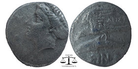 Sinope , Paphlagonia. AR Drachm c. 410-350 BC. Head of nymph left, wearing ear-ring; hair in sakko Sea-eagle on dolphin left; above, below, ΣINΩ. BMC ...