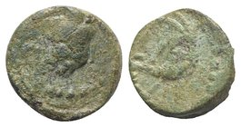 Gaul, Massalia, after 49 BC. Æ (10.5mm, 2.26g, 12h). Head r. R/ Boar head (?) l. Depeyrot -. Green patina, VF