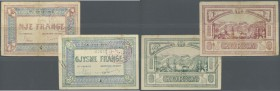 Albania: set of 2 notes containing 0.50 Frange ND P. S147 (F+ to VF-) and 1 Frange ND P. S152 (F), nice set. (2 pcs)