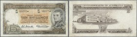 "Australia: 10 Shillings 1961 ""STAR NOTE"" (Replacement), signed Coombs-Wilson, plus Coombs as Gouvernor Reserve Bank, center fold, pressed, light verti..."
