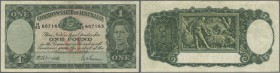 Australia: 1 Pound ND(1938-52I, Rennick 29, P. 26, signatures Armitage-McFarlane, several creases in paper, still original colors, no holes or tears, ...