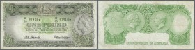"Australia: 1 Pound 1961 ""STAR NOTE"" (Replacement), very rare, several folds and creases in paper but no holes or teras, signed Coombs-Wilson plus Coom..."