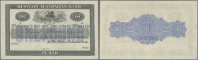 "Australia: 1 Pound 1900 Western Australian Bank SPECIMEN with ""Specimen"" perforation, specimen serial numbers 350001-400000. Rennick's Catalog MVR3c -..."