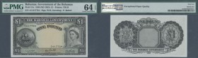 Bahamas: 1 Pound ND(1953) P. 15c, PMG graded 64 Choice UNC EPQ.