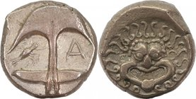 THRACE, APOLLONIA PONTICA, late 5th-4th centuries BC. AR, drachm.