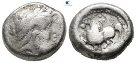 Eastern Europe. Imitation of Philip II of Macedon circa 300-100 BC. Tetradrachm AR