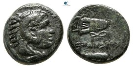 "Kings of Macedon. Uncertain mint in Macedon. Alexander III ""the Great"" 336-323 BC. Chalkous Æ"