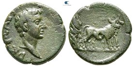 Macedon. Uncertain (Philippi?). Drusus, son of Tiberius AD 19-23. Bronze Æ