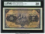 Egypt National Bank of Egypt 50 Pounds 1.3.1945 Pick 15c PMG Very Fine 30. A much above average example of this large format type, which is more commo...