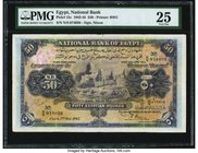 Egypt National Bank of Egypt 50 Pounds 2.5.1945 Pick 15c PMG Very Fine 25. An always desirable high denomination type. Featuring the Cook signature va...