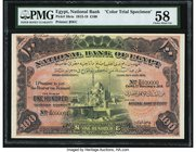 Egypt National Bank of Egypt 100 Pounds 1.11.1918 Pick 16cts Color Trial Specimen PMG Choice About Unc 58. We have offered previously a Color Trial Sp...