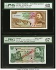 Ethiopia State Bank of Ethiopia 50; 500 Dollars ND (1961) Pick 22cts; 24s Color Trial Specimen and Specimen PMG Choice Uncirculated 63; PMG Superb Gem...