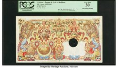 Lebanon Banque de Syrie et du Liban 100 Livres 1.12.1945 Pick 53 PCGS Very Fine 30. A stunning example of this already beautiful note that is at the t...