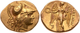 Macedonian Kingdom. Alexander III 'the Great'. Gold Stater (8.44 g), 336-323 BC. EF