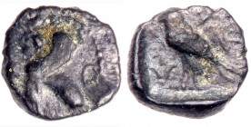 Phoenicia, Byblos. Uncertain king. Silver 1/16 Stater (0.56 g), before 450 BC. VF