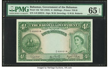 Bahamas Bahamas Government 4 Shillings 1936 (ND 1953) Pick 13d PMG Gem Uncirculated 65 EPQ.   HID09801242017