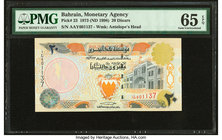 Bahrain Monetary Agency 20 Dinars 1973 (ND 1998) Pick 23 PMG Gem Uncirculated 65 EPQ.   HID09801242017