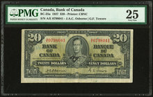 Canada Bank of Canada $20 2.1.1937 BC-25a PMG Very Fine 25.   HID09801242017