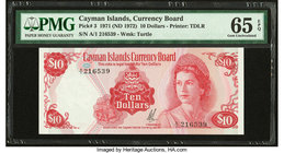 Cayman Islands Currency Board 10 Dollars 1971 (ND 1972) Pick 3 PMG Gem Uncirculated 65 EPQ.   HID09801242017