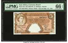 East Africa East African Currency Board 5 Shillings ND (1962-63) Pick 41b PMG Gem Uncirculated 66 EPQ.   HID09801242017