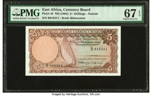 East Africa East African Currency Board 5 Shillings ND (1964) Pick 45 PMG Superb Gem Unc 67 EPQ.   HID09801242017
