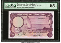 East Africa East African Currency Board 100 Shillings ND (1964) Pick 48a PMG Gem Uncirculated 65 EPQ. Highest denomination of the final series, and ac...