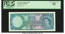 Fiji Government of Fiji 5 Shillings 1.10.1965 Pick 51e PCGS Very Choice New 64.   HID09801242017