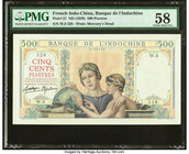 French Indochina Banque de l'Indo-Chine 500 Piastres ND (1939) Pick 57 PMG Choice About Unc 58.   HID09801242017