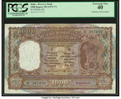 India Reserve Bank of India 1000 Rupees ND (1975-77) Pick 65b Jhun6.9.4.2 PCGS Extremely Fine 40. Pinholes at left as issued.  HID09801242017