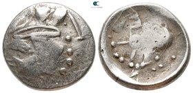 "Eastern Europe. Imitation of Philip II of Macedon circa 200-100 BC. ""Sattelkopfpferd"" type. ""Tetradrachm"" AR"