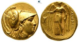 "Kings of Macedon. Sardeis. Alexander III ""the Great"" 336-323 BC.  Struck under Menander, circa 330/25-324/3 BC. Stater AV"