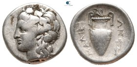 Thessaly. Lamia circa 360-350 BC. Struck in the name of the Malians. Hemidrachm AR