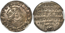 Zygmunt I Stary, Trojak Gdańsk 1539 - NGC AU58