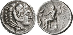CELTIC, Lower Danube. Uncertain tribe. 3rd to 2nd centuries BC. Tetradrachm (Silver, 25 mm, 16.78 g, 4 h), imitating Alexander III of Macedon. Head of...