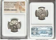 MACEDONIAN KINGDOM. Alexander III the Great (336-323 BC). AR tetradrachm (26mm, 17.03 gm, 5h). NGC Choice AU 5/5 - 4/5. Early posthumous issue of Susa...
