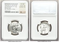 MACEDONIAN KINGDOM. Alexander III the Great (336-323 BC). AR tetradrachm (25mm, 17.11 gm, 12h). NGC Choice AU 4/5 - 3/5. Lifetime issue of Salamis, 33...