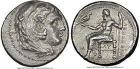 MACEDONIAN KINGDOM. Alexander III the Great (336-323 BC). AR tetradrachm (26mm, 7h). NGC XF, Fine Style, scratches. Early posthumous issue of 'Babylon...