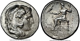 MACEDONIAN KINGDOM. Alexander III the Great (336-323 BC). AR tetradrachm (27mm, 2h). NGC Choice VF, Fine Style. Early posthumous issue of 'Babylon', c...