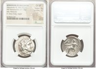 MACEDONIAN KINGDOM. Alexander III the Great (336-323 BC). AR tetradrachm (24mm, 17.10 gm, 1h). NGC Choice VF 4/5 - 3/5. Early posthumous issue of 'Amp...