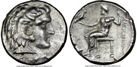 MACEDONIAN KINGDOM. Alexander III the Great (336-323 BC). AR tetradrachm (25mm, 12h). NGC Choice VF. Late lifetime or early posthumous issue of Byblus...
