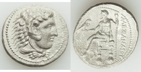 MACEDONIAN KINGDOM. Alexander III the Great (336-323 BC). AR tetradrachm (28mm, 16.11 gm, 2h). XF, granular. Lifetime or early posthumous issue of Ake...