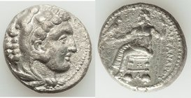 MACEDONIAN KINGDOM. Alexander III the Great (336-323 BC). AR tetradrachm (23mm, 16.76 gm, 9h). XF. Lifetime issue of Tarsus, ca. 333-327 BC. Head of H...