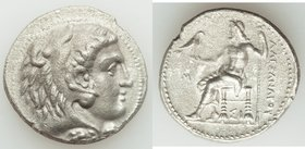MACEDONIAN KINGDOM. Alexander III the Great (336-323 BC). AR tetradrachm (27mm, 16.64 gm, 1h). XF. Early posthumous issue of Sidon, dated Civic Year 1...